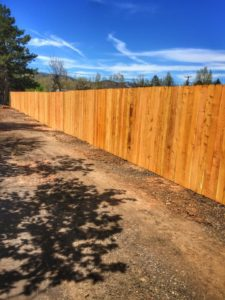 Privacy fence in Fort Collins, Colo.