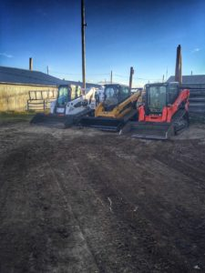 We've got three skid steers running clearing our weeds and debris in the future sorting pens.